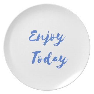enjoy today party plate