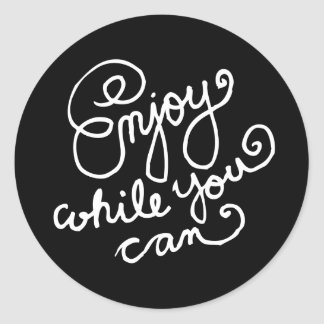 Enjoy While You Can 2 Round Stickers