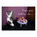 Enjoy your birthday cake... greeting card