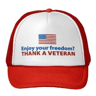 Enjoy Your Freedom? Thank a Veteran. Cap
