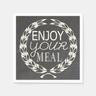 Enjoy your meal disposable napkin