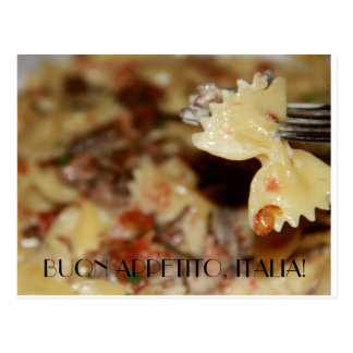Enjoy your meal in Italian Postcard