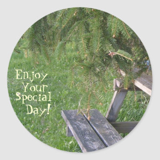 Enjoy, Your, Special, Day! Round Sticker