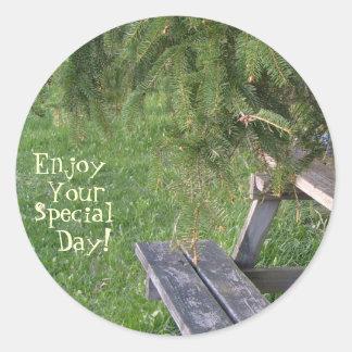 Enjoy, Your, Special, Day! Round Sticker