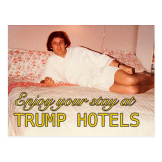 Enjoy your stay at Trump Hotels postcard