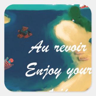 Enjoy your Trip Square Sticker