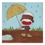 Enjoying A Rainy Day Poster