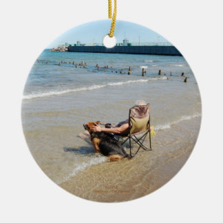 Enjoying Lake Michigan Ornament or Pendant