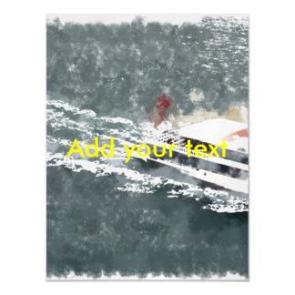 Enjoying on a fast boat magnetic invitations