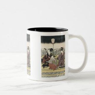 Enjoying the Cool of The Evening, Toyohiro, 180... Two-Tone Mug