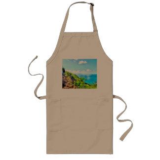 Enjoying the great view long apron