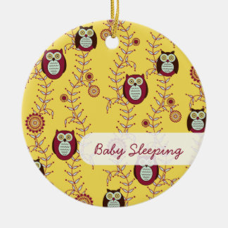 "Enjoying the Sunshine ""Baby Sleeping"" Door Hanger Christmas Ornament"