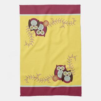 Enjoying the Sunshine Owls Kitchen Towel