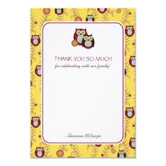 Enjoying the Sunshine Thank You Flat Cards Personalized Announcements