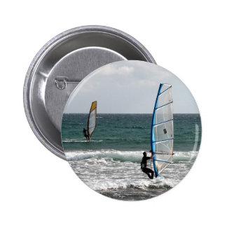 Enjoying the wind 6 cm round badge