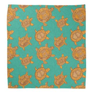 Enjoying Your Journeys- Teal Green Sea Turtles Head Kerchief