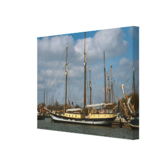 Enkhuizen,traditional Dutch sailing vessel Canvas Print