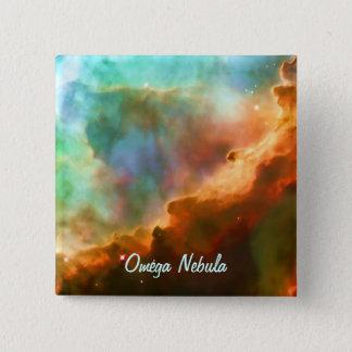 Enlarged Region of The Omega Nebula 15 Cm Square Badge