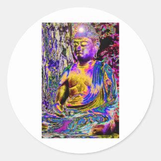 Enlightened Buddha Classic Round Sticker