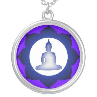 Enlightened Buddha Round Pendant Necklace