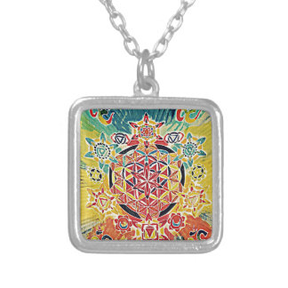 Enlightened .jpg square pendant necklace