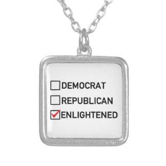 Enlightened Vote Square Pendant Necklace