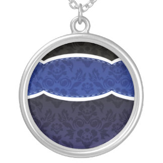Enlightening Blue floral wedding gift Pendants