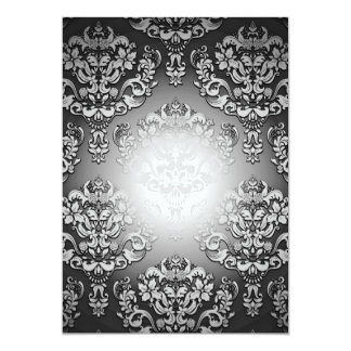 Enlightening Grey and White floral special gift 13 Cm X 18 Cm Invitation Card