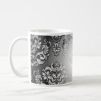 Enlightening Grey and White floral special gift Mug