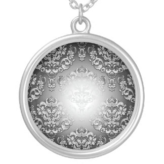Enlightening Grey and White floral special gift Pendant