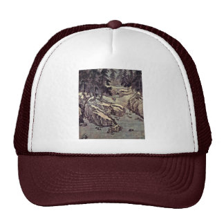 Enlightenment To The Snow On The River By Kao K O- Trucker Hat