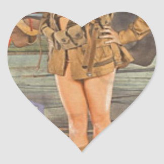 Enlist In The 82nd Airborne Heart Sticker