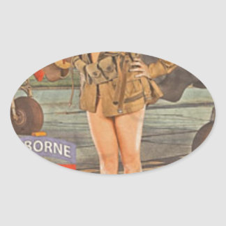 Enlist In The 82nd Airborne Oval Sticker