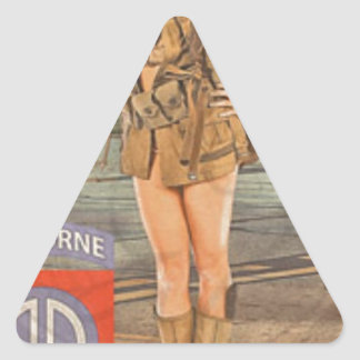 Enlist In The 82nd Airborne Triangle Sticker