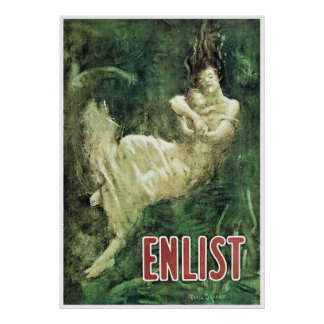 Enlist ~ Lusitania Tragedy Poster