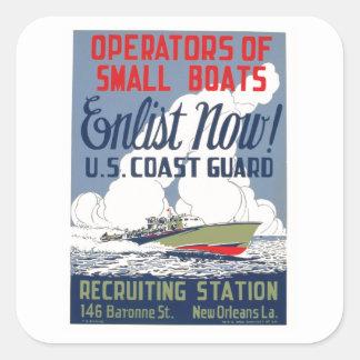 Enlist Now! U.S. Coast Guard Stickers