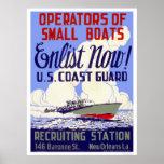 Enlist now!  U.S. Coast Guard - WPA Posters