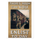 """Enlist"" Old U.S. Military Poster circa 1915 Postcard"