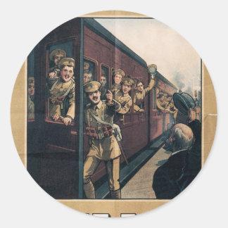 """Enlist"" Old U.S. Military Poster circa 1915 Round Sticker"