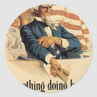 """Enlist"" Old U.S. Military Poster circa 1917 Round Sticker"