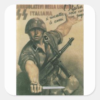 Enlist Propaganda Poster Square Sticker