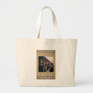 Enlist To-Day World War 2 Canvas Bags