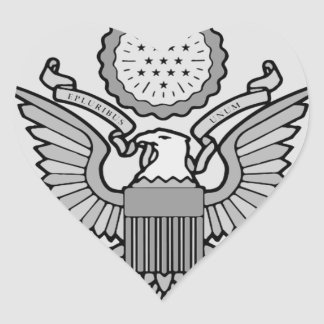 ENLISTED AIRCREW WINGS HEART STICKER
