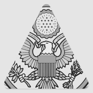 ENLISTED AIRCREW WINGS TRIANGLE STICKER