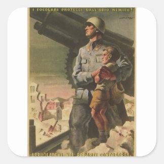 Enlisted Propaganda Poster Square Sticker