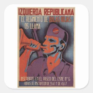 Enlistment (1936)_Propaganda Poster Square Sticker