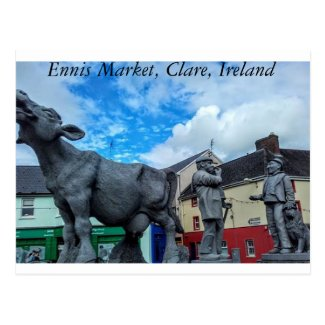 Ennis Market, Clare, Ireland Postcard