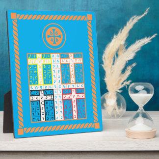 Enochian Water Elemental Tablet Plaque