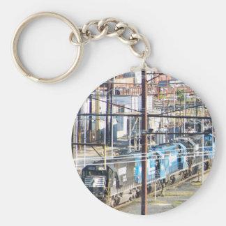 Enola Norfolk Southern Railroad Yard Harrisburg PA Basic Round Button Key Ring