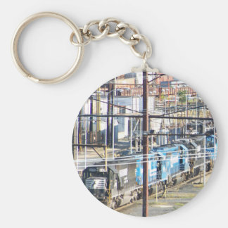 Enola Norfolk Southern Railroad Yard Harrisburg PA Key Chains